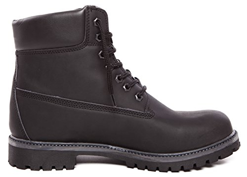 CAPRIUM Worker Halbschaft Stiefel Classic Boots Schnürer, Herren 000940 Schwarz