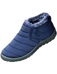 Uomo Donna Stivali Invernali Outdoor Impermeabile Scarpe piatte calde Caviglia Stivaletti Botas BETY 42 BLUE