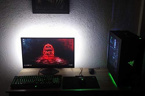 TV LED Hintergrundbeleuchtung hinter 32 40 50 55 60 Zoll TV Bias Beleuchtung True White USB LED-Streifen für TV zur Verringerung der Augenbelastung (99 Zoll, 6000 Kelvin)
