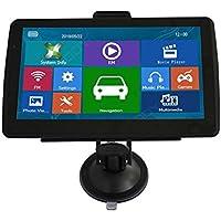 Cutowin Navegador GPS de 7 Pulgadas para Coche, Camión, Navegación, Pantalla HD,