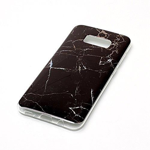 Per Marmo copertura di Samsung Galaxy S8 Inoltre Stone Texture modello anti-graffio antiurto ultra sottile molle della protezione posteriore Case Cover Shell ( Color : N ) D