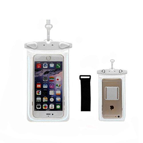 Etanche étui de téléphoneCellulaire à secSac pochette pour téléphone/Light,Blanc