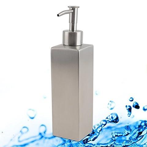 Soap Dispenser, Lotion Pump Bottles Stainless Steel for Kitchen Bathroom Countertops (18.1*4.9cm)
