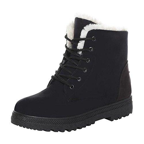 Lucky Mall Frauen warme Schneeschuhe, Mode Winter Kurze Stiefel, Ladies Warme Schneeschuhe