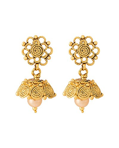 Voylla Spiral Designer Jhumki Earrings  available at amazon for Rs.109