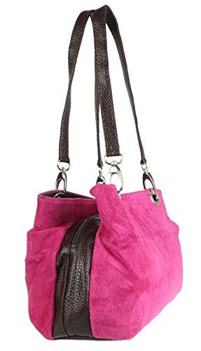 Girly Handbags ,  Damen Schultertasche fuchsia