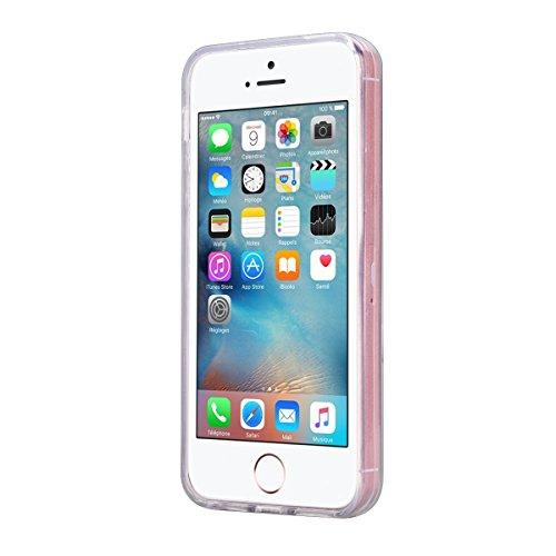 "iPhone 7 Plus (5.5"") Back Hülle Marmor Tasche HB-Int 3 in 1 Weich Silikon Dünn Schutzhülle Lila Linien Flexible Case Full Body TPU Bumper Rundum Transparent Rahmen Beschützer Haut Etui Protect Handyhü Grün Marmor"