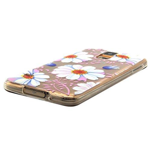 Voguecase® für Apple iPhone 6 / 6s (4,7 Zoll) , Schutzhülle / Case / Cover / Hülle / Ultra Slim Fit TPU Gel Skin (Pink Anchors) + Gratis Universal Eingabestift Kleine Gänseblümchen 02