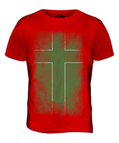 CandyMix Ladonien Verblichen Flagge Herren T Shirt Rot
