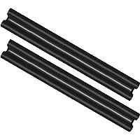 com-four® 2X Arrêt de tirage avec Double Joint, Longueur individuelle de 86 cm, Joint de Porte en Noir pour l'isolation et la Protection Contre Les Courants d'air et Le Bruit (02 pièces)