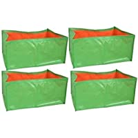 """voolex HDPE Grow Bags for Terrace Gardening (24""""x12""""x9"""" Inches) -Pack of 4"""
