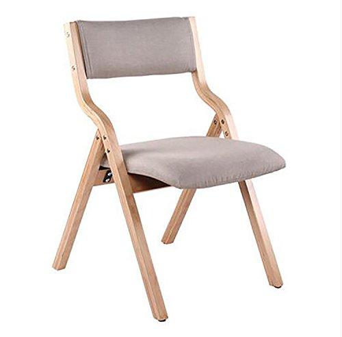 Chaises pliantes en bois Chaise à manger en bois massif Chaises modernes confortables de dossier Mobilier de maison Tables et chaises Fauteuil de table pliant de mode Chaises pliantes