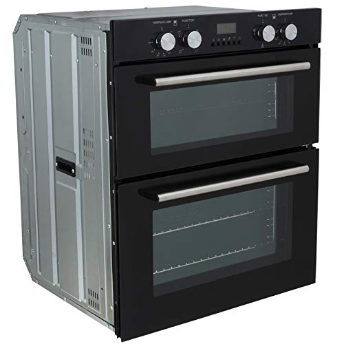 41yW%2Bg8qiUL. SS500  - SIA DO101 60cm Black Built Under Double Electric Fan Oven With Digital Timer