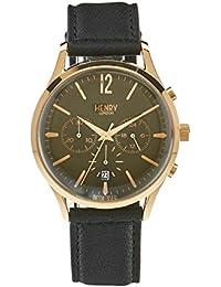 Henry ltext-Orologio da polso cronografo Chiswick London luenette in pelle HL41 - CS-0106 (Ricondizionato Certificato)