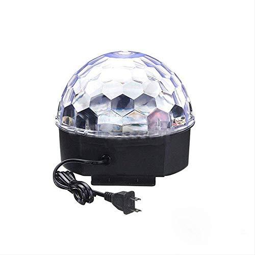 l Flash Strobe Magic Stage Light Effect Dance Floor Laser Show Rotating Head Disco Dj Party Lamp UK Plug Colorful ()