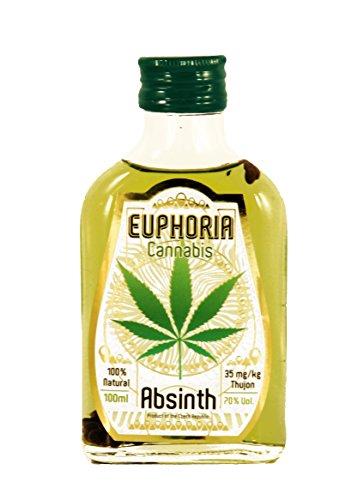 Euphoria Absinthe Cannabis | 70% abv, 35mg/kg thujone, 100% natural (0.1 l)