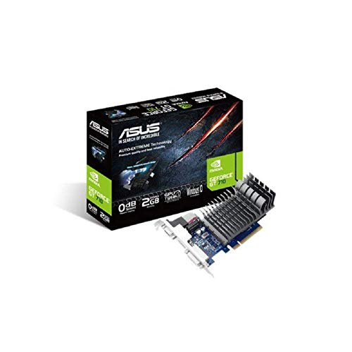 ASUS 710-2-SL GeForce GT 710 2 GB DDR3 Low Profile Graphics Card for Silent HTPC Build - Black