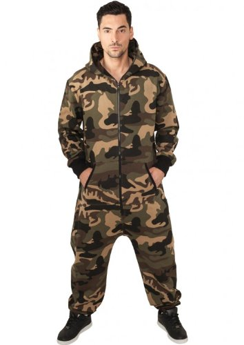 TB581 'Urban Classics' Camo Jumpsuit Wood Camoflage