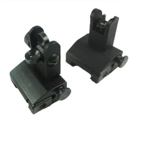Green Blob Outdoors Tactical Micro Iron Sight Set, Front and Rear, Folding / Flip up A2, 223, 5.56 Ar by Green Blob Outdoors -