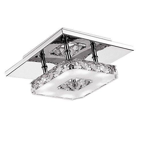 12W LED Kristall Design Hängelampe Deckenlampe Pendelleuchte Kreative Kronleuchter Kaltweiß Lüster (B Type Kaltweiß)
