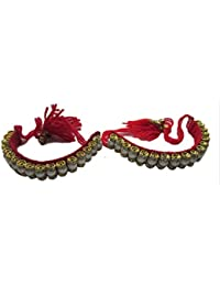 Hand made set of 2 bajubandh for women and young girls