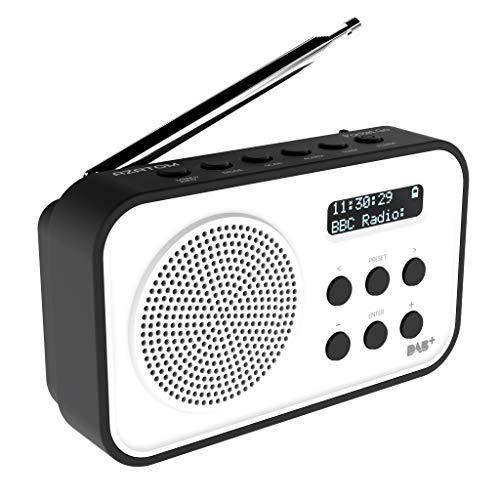 d160c34712b3 AZATOM Pocket Go DAB Digital FM Radio Alarm Clock - Portable - Rechargable  battery - Timer (Black)