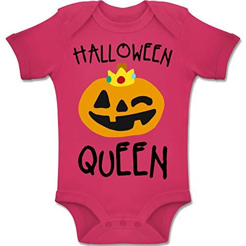 Shirtracer Anlässe Baby - Halloween Queen Kostüm - 3-6 Monate - Fuchsia - BZ10 - Baby Body Kurzarm Jungen Mädchen