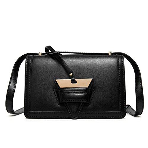 Borsa Quadrata Piccola Borsa Messenger Bag Borsa A Tracolla,Pink Black
