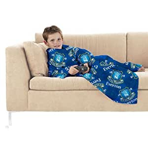 Everton FC Junior snuggle FLEECE- snuggle BLANKET- Fleecedecke mit SLEEVES- 100 %polyester, Maße: ca. 125 x 110 cm, im zip carry BAG- Offizielles FußBall-Merchandising-Produkt