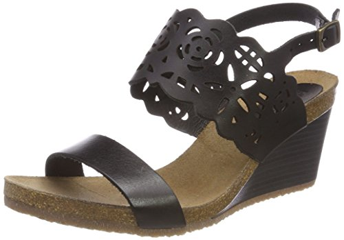Kickers Damen Single Plateausandalen, Schwarz (Noir), 39 EU
