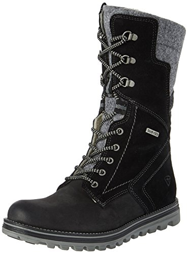 Tamaris Damen 26269 Combat Boots, Schwarz (Black Comb), 38 EU (Canvas-boot)