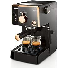Saeco Poemia Focus HD8425/21 - Máquina de café espresso manual para café molido y monodosis E.S.E., Edición 30 Aniversario, 950 W, color negro y dorado