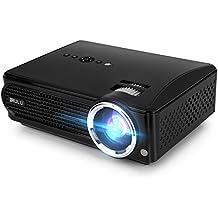 iRULU P4 LED HD Video Proiettore Home Proiettore Supporto 1080P HDMI VGA USB AV Scheda SD Per il Computer Portatile TV SD Smartphone Home Cinema Theatre - Nero