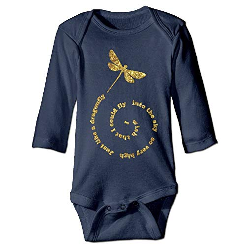 Cap socks Neutral Cotton Long Sleeves Fly Away Dragonfly Cute Dragonfly Infant Baby Girl Boy Onesies Jumpsuit Jumpsuit 18M -