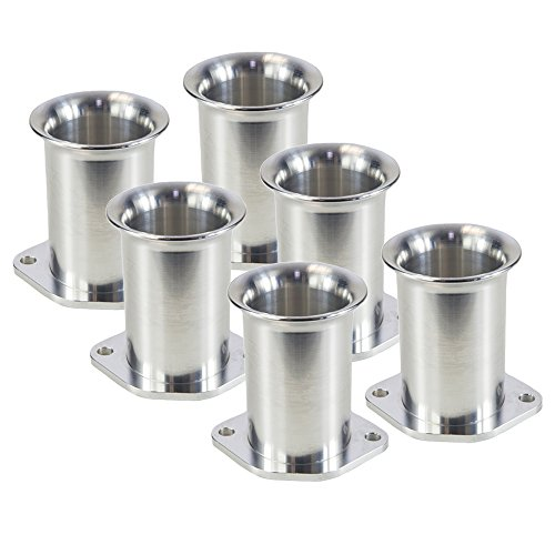 Ramair Filters Bot-40–60–6PK Weber dcoe 40mm perno de velocidad pila de trompeta, 60mm, juego de 6
