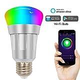MRXUE LED lumière sans Fil WiFi Intelligent contrôle coloré E27 Ampoule 50/60HZ