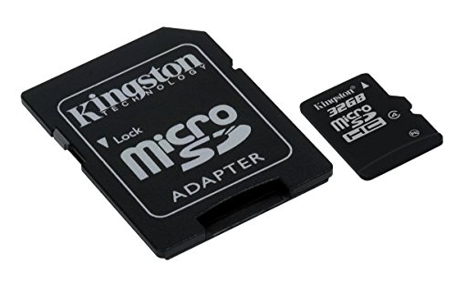 Kingston SDC4/32GB Memoria MicroSDHC con Adattatore SD, 32 GB, Class 4