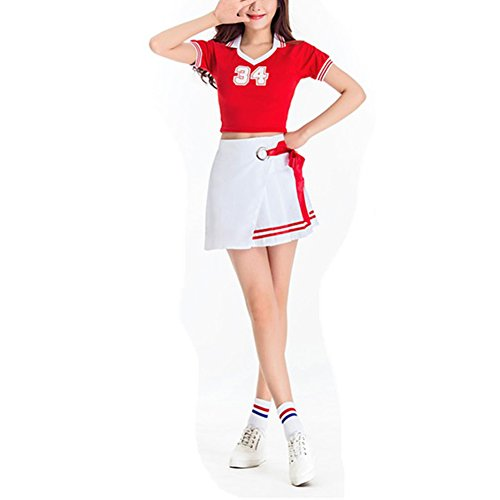 rleader Kostüm Mädchen WM Kleid Fancy Cheerleader Kostüm Fußball Baby Sexy Performance Uniform (Mädchen Fußball Kostüme)