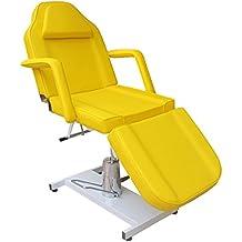 eyepower de 3zonas Camilla de tratamiento | 185cm ajustable cosmética silla | 360° giratorio Camilla terapéutica Incluye extraíbles reposabrazos