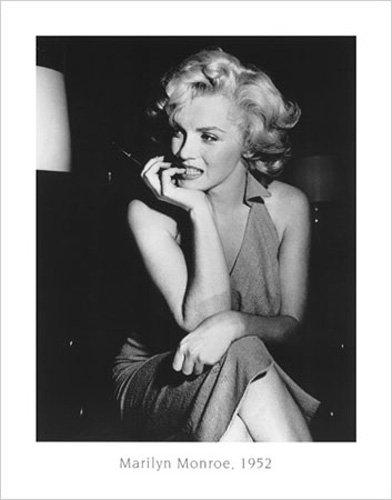 Bettmann Marilyn Monroe 1952 Kunstdruck schwarz-weiss Foto Filmposter Kino Marilyn Monroe 56x71cm
