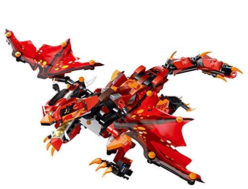 XUMING Fernbedienung Baustein Spielzeug, DIY montiert Electric Storm Dragon, 2.4G Fernbedienung, für Kinder ab 6 Jahren - Die Einfach Bewegen Sie Ps4