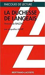 LA DUCHESSE DE LANGEAIS-PARCOURS DE LECTURE