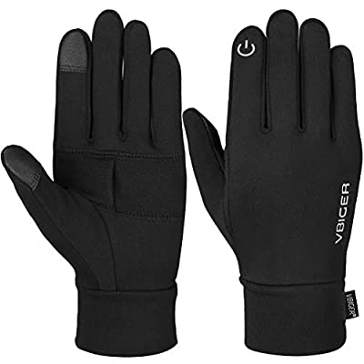 Vbiger Herren Touchscreen Handschuhe Winterhandschuhe Anti-Rutsch Outdoor Sport Handschuhe Fahren Radfahren Handschuhe mit Fleece Liner