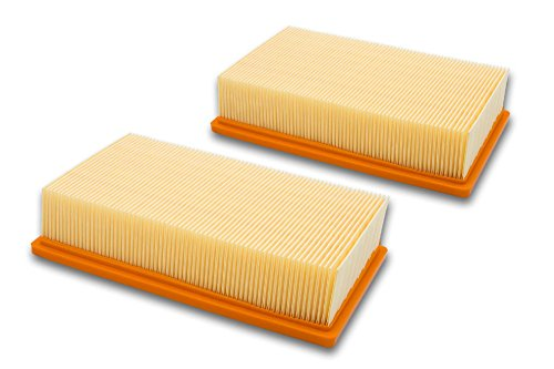Preisvergleich Produktbild vhbw 2x Flachfalten Filter für Staubsauger Bosch GAS 35 L AFC, GAS 35 L SFC+, GAS 35 M AFC, GAS 55 M AFC Professional wie 2 607 432 034