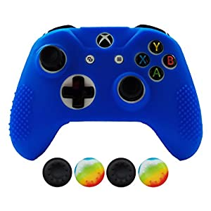 Hikfly Silicone Controller Cover Skin Protector Case Faceplates Kits for Xbox One Controller (Old Model, not for One S/One X Model) Video Games(2X Camouflage Cover with 8 x Thumb Grips Caps)