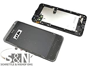 Original HTC Desire 300 Displaymodul LCD Display Touchscreen + Rahmen, schwarz