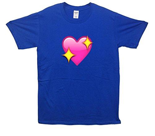 Sparkling Heart Emoji T-Shirt Blau