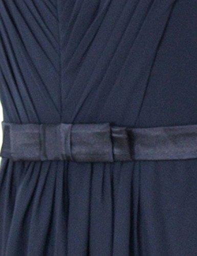 Dresstells, Robe de soirée de mariage/cérémonie/demoiselle d'honneur col V longueur ras du sol avec ceinture Blush