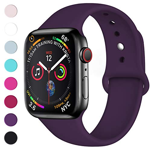 nuevas imágenes de bonita y colorida fabricación hábil Lerobo Sport Correa para Apple Watch Correa 38mm 42mm 40mm 44mm, Pulsera de  Repuesto de Silicona Suave Correa para Apple Watch Series 4, Series 3, ...