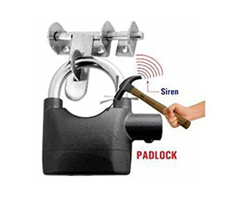 Ganesh Trendy Anti Theft Burglar Pad Lock Alarm Security Siren Lock